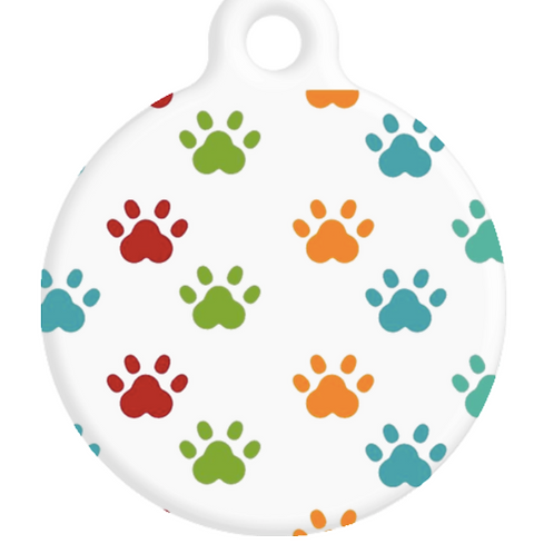 Colourful Paws ID Tag