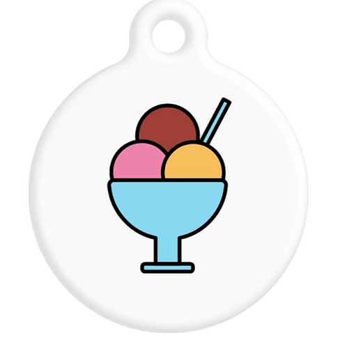 Ice Cream Sundae ID Tag