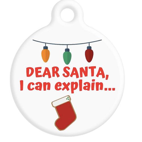 Dear Santa, I Can Explain ID Tag