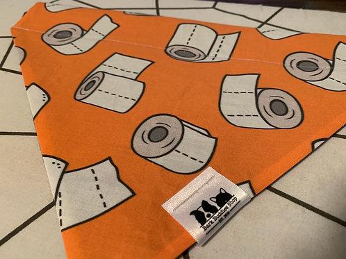 Toilet Paper Orange Bandana