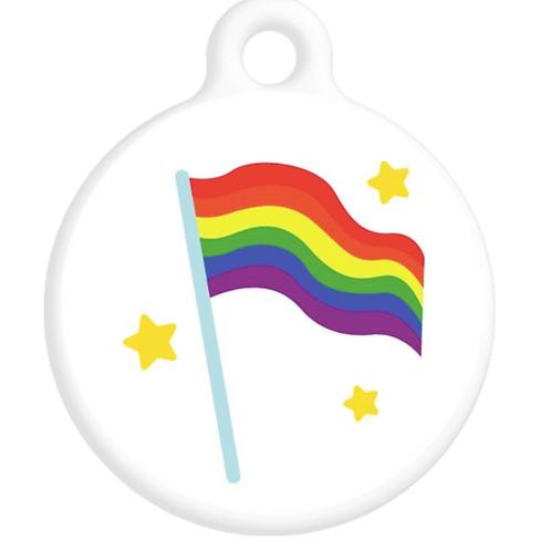 Pride Flag ID Tag