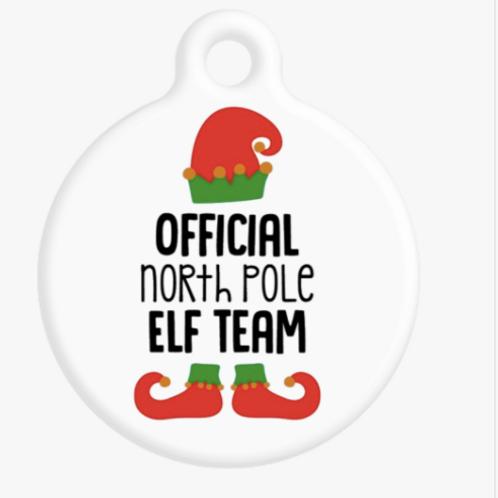 Official North Pole Elf Team ID Tag
