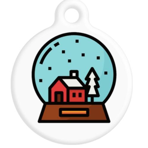 Snow Globe ID Tag