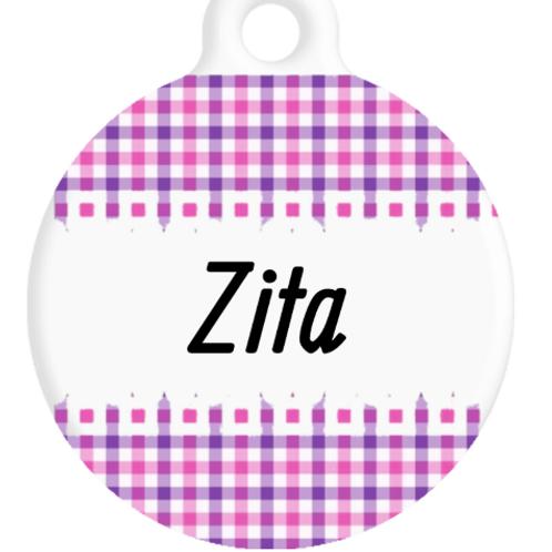 The Zita Plaid ID Tag