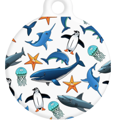 Sea Creatures ID Tag