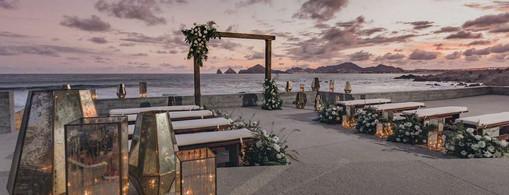 The Cape_Weddings_Ceremony Set Up_Sunset