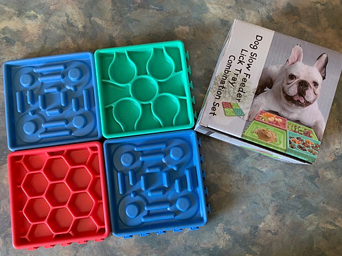 Dog Slow Feeder Lick Tray