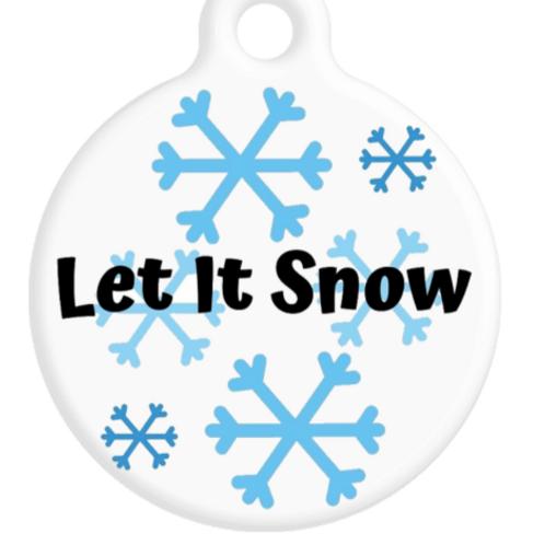 Let It Snow ID Tag