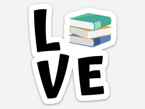 Love Books/Reading Sticker