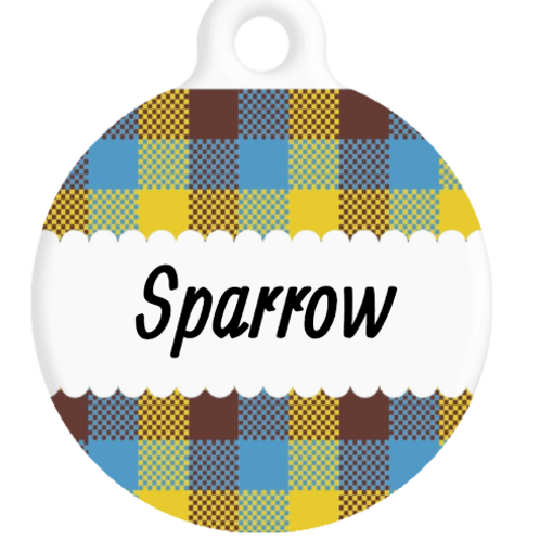 The Sparrow Plaid ID Tag