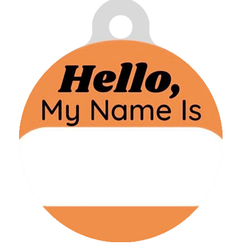 Hello, My name is Orange ID Tag