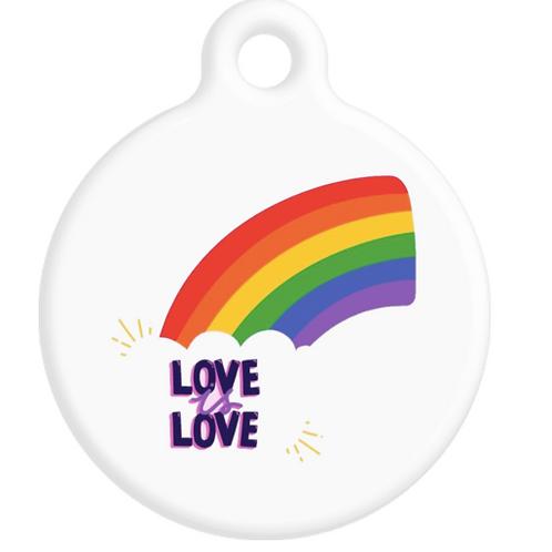 Love is Love Rainbow ID Tag