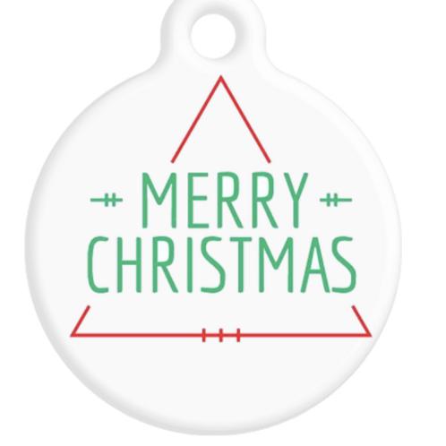 Merry Christmas ID Tag
