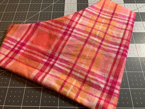 Flannel Pink/Orange Plaid Bandana