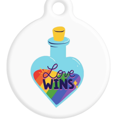 Love Wins Bottle ID Tag