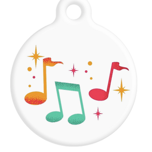 Music Notes ID Tag