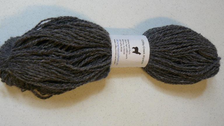 Hand Spun Alpaca Yarn - Dk Silver Gray