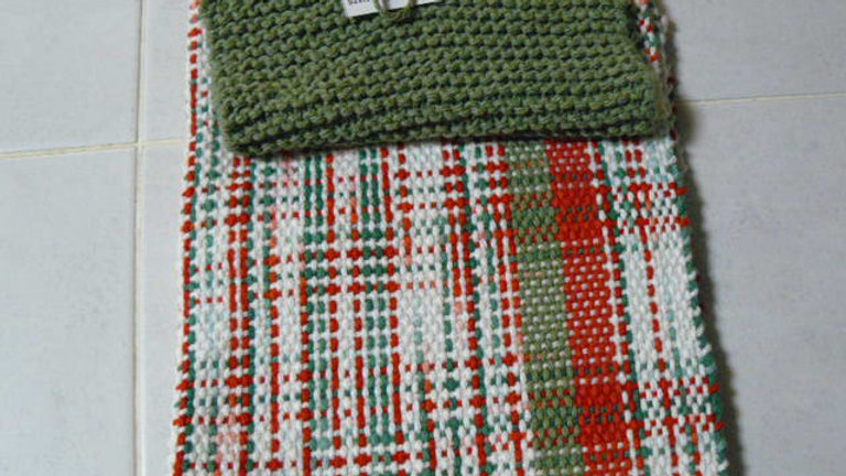 Hand Knitted/Woven 100% Cotton Dishtowel Set