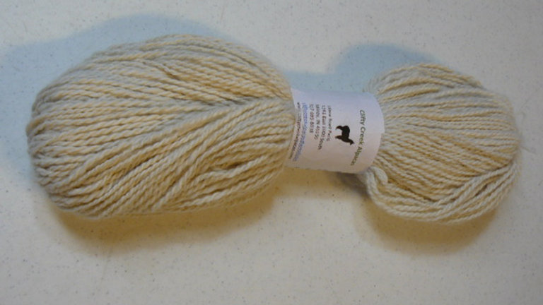Hand Spun Alpaca Yarn - White