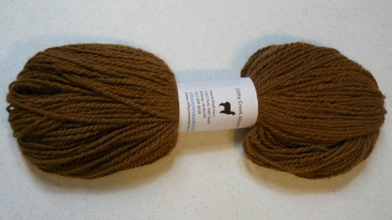 Hand Spun Alpaca Yarn - Brown