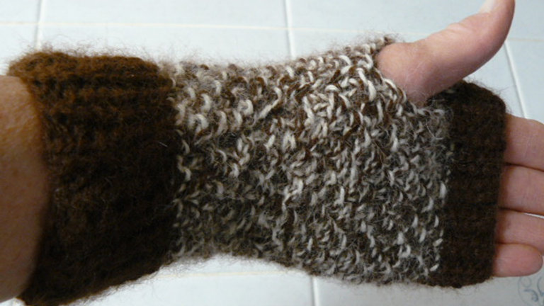 Hand Knitted Fingerless Handwarmers