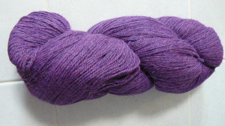Heather Prime Alpaca  (Dyed) Purple Iris