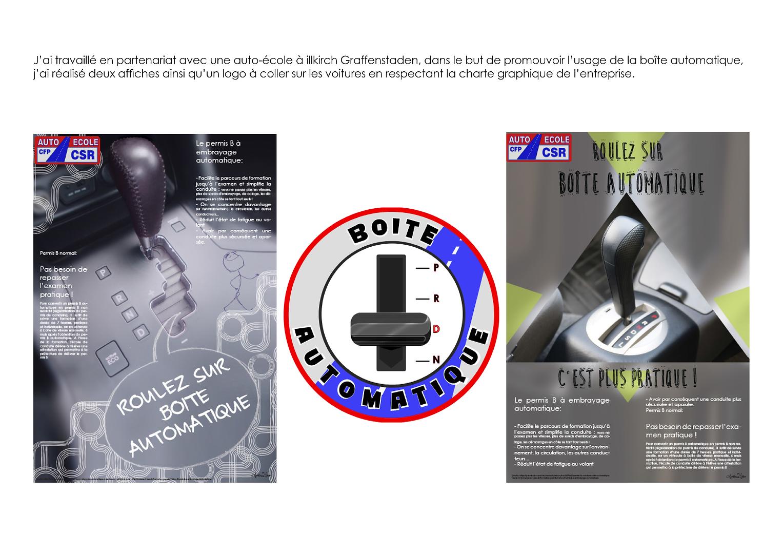 projet logo et affiche auto-école