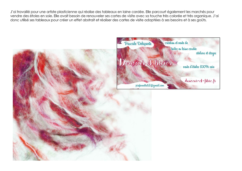 projet carte de visite artiste
