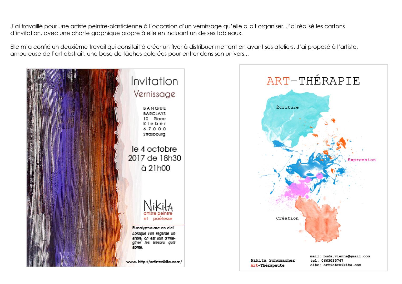 projet carton invitation et flyer artiste
