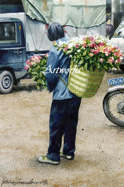 Flower Vendor - Tonglii, China