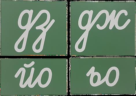 "Опесъчени-грапави двойни букви ""дз"" ""дж"" ""йо"" ""ьо"" (тест)"