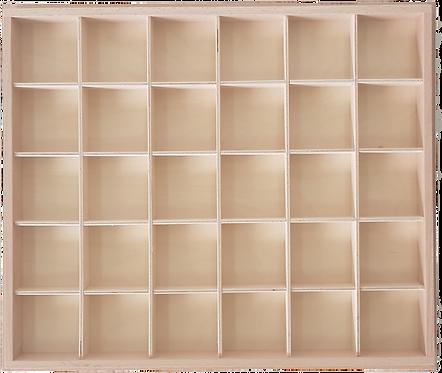 Кутия за голяма, дървена, подвижна, печатна Българска азбука