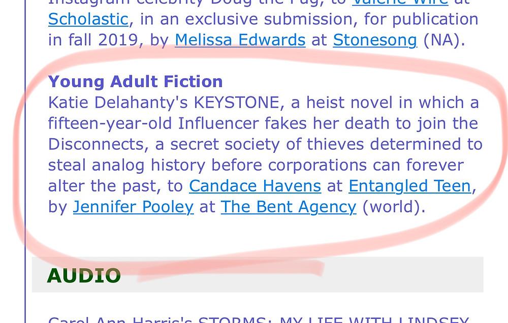 Keystone Publishers Marketplace Announcement