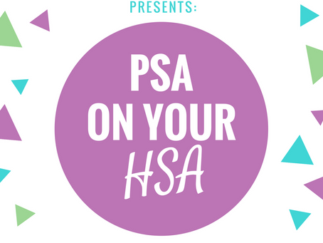 PSA ON YOUR HSA AND MASSAGE THERAPY