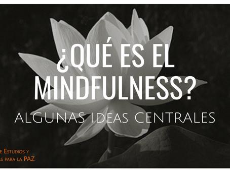 ¿Qué es el Mindfulness? Algunas ideas centrales