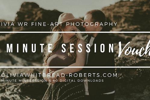 60 minute photo session Voucher!