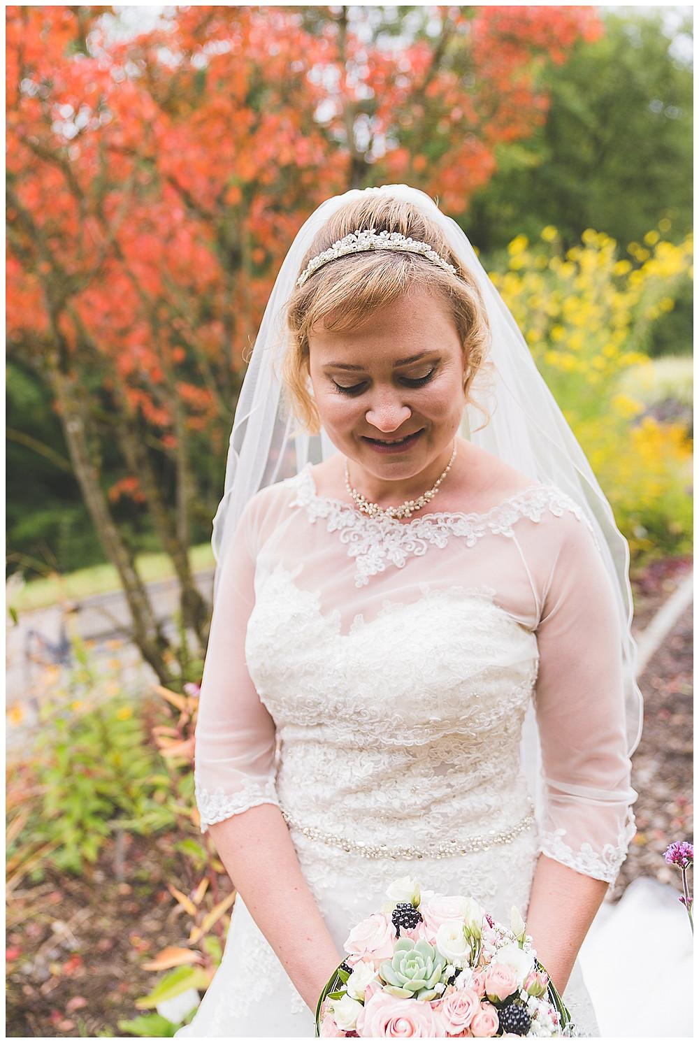 Braut im Botanischen Garten Ulm