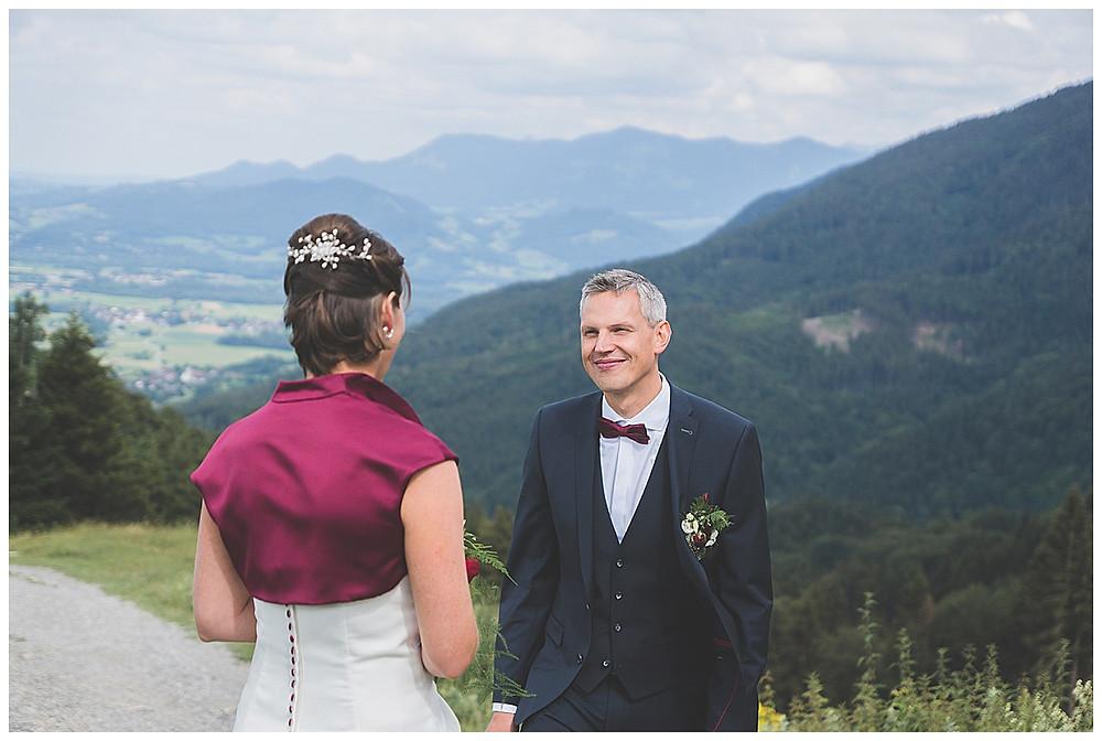 Brautpaar Tregler Alm heiratet