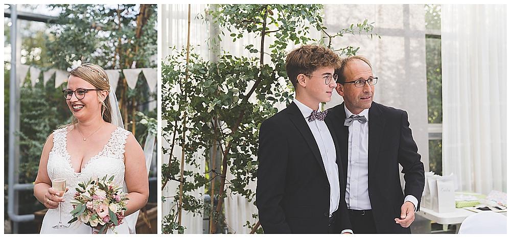 Sektempfang im Plan Garten Stuttgart Hochzeitsfotograf