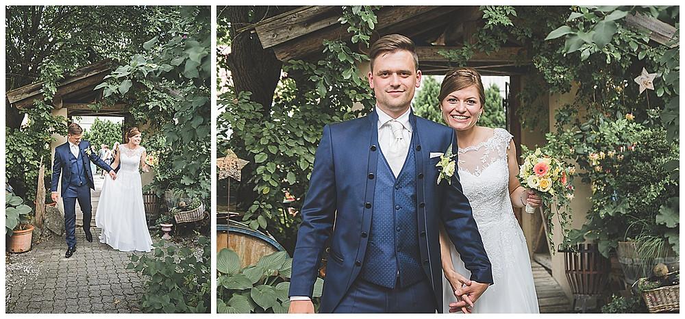 Brautpaar Ankunft Hochzeitslocation Kraftwerk im Allgäu heiraten