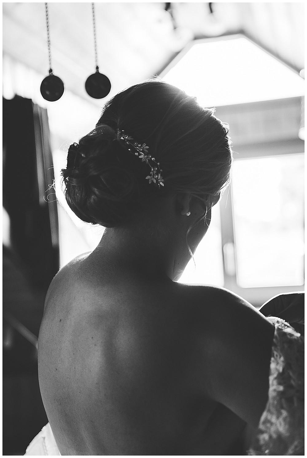 Braut Getting Ready  Hochzeitstag