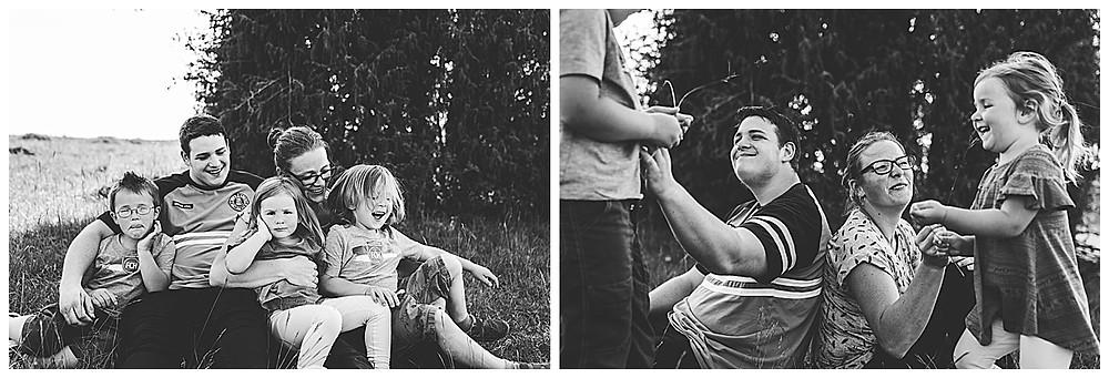 Familie beim Famiienshooting kuscheln und spielen fango