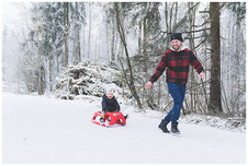 Familienfotograf Augsburg - Winterliches Familienshooting in Heidenheim