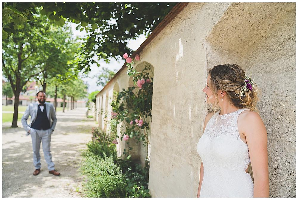 Kloster Wiblingen Brautpaarshooting Rosengarten