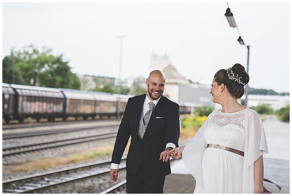 Brautpaarshooting Giengen Bahnhof