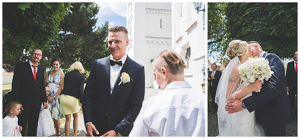 heiraten in göttingen Braut küsst Bräutigam