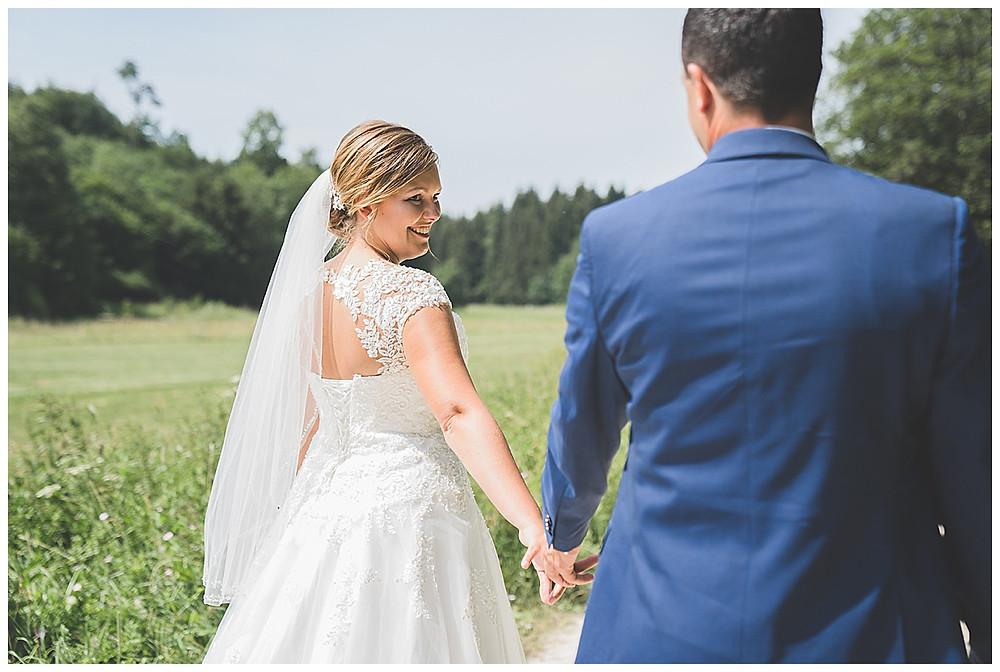 Hochzeitsfotograf Heidenheim Brautpaarshooting Lonetal