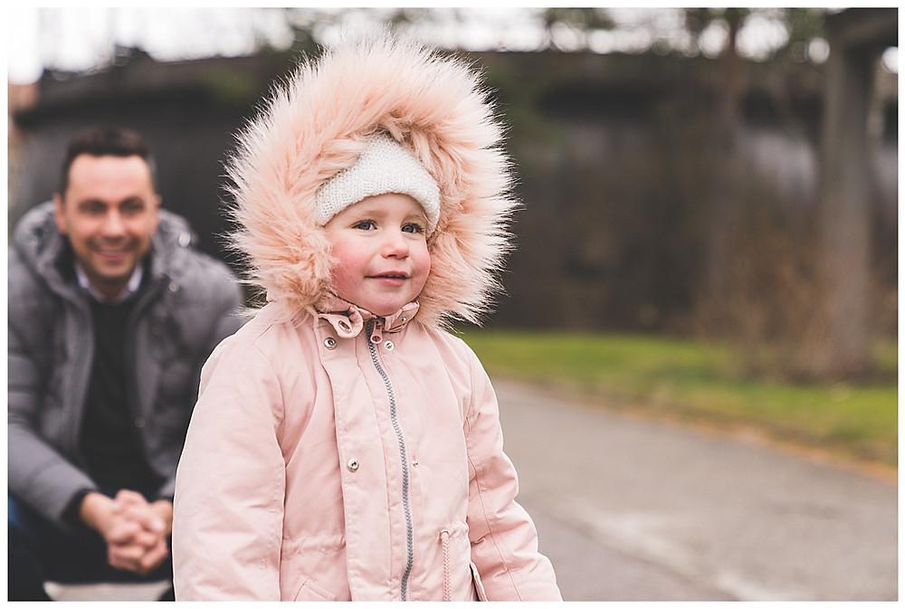 Gaswerk Augsburg Papa und Tochter beim Familienshooting