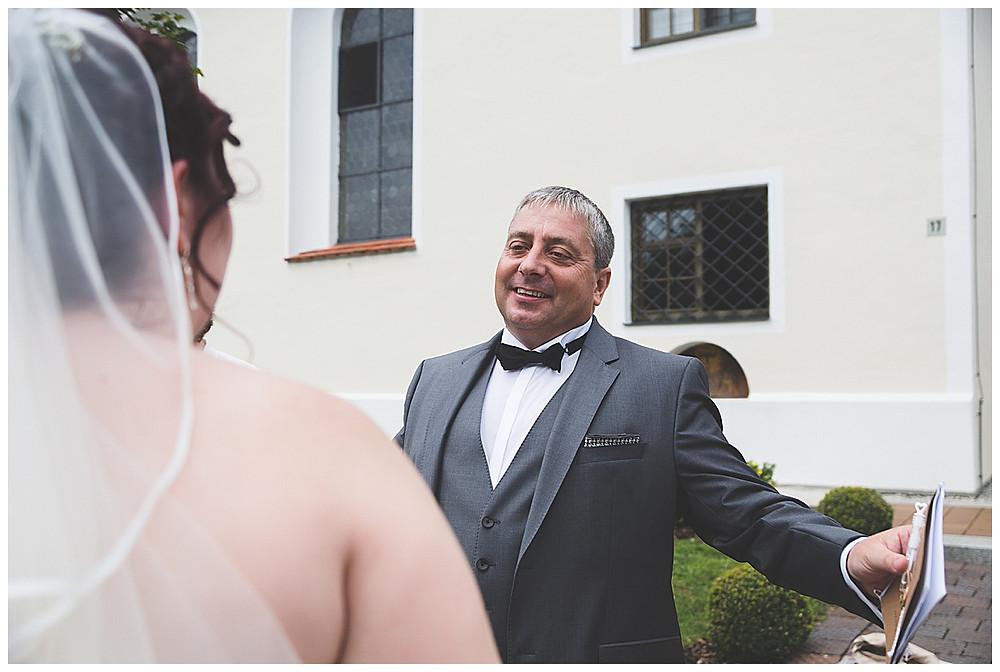 Brautpapa gratuliert Braut Neu-Ulm
