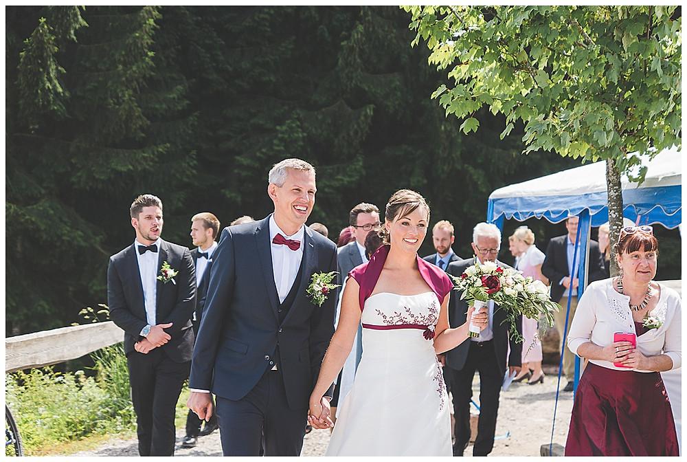 Berghochzeit Brautpaar Auszug